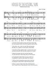 Téléchargez l'arrangement de la partition de Traditionnel-House-of-the-rising-sun en PDF à deux voix