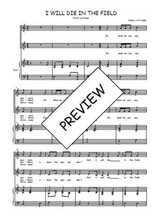 Téléchargez la partition de I will die in the field en PDF pour 2 voix égales et piano