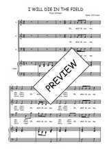 Téléchargez la partition de I will die in the field en PDF pour 3 voix SAB et piano