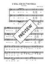 Téléchargez l'arrangement de la partition de Traditionnel-I-will-die-in-the-field en PDF à trois voix