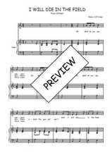 Téléchargez la partition de I will die in the field en PDF pour Chant et piano