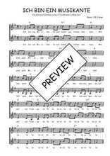 Téléchargez l'arrangement de la partition de Traditionnel-Ich-bin-ein-Musikante en PDF à deux voix