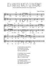 Téléchargez l'arrangement de la partition de Traditionnel-Ich-hab-die-Nacht-getraumet en PDF à deux voix