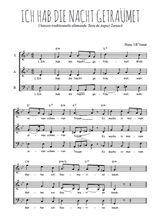 Téléchargez l'arrangement de la partition de Traditionnel-Ich-hab-die-Nacht-getraumet en PDF à trois voix