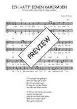 Téléchargez l'arrangement de la partition de Traditionnel-Ich-hatt--einen-Kameraden en PDF à deux voix