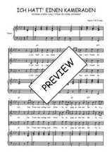 Téléchargez la partition de Ich hatt' einen Kameraden en PDF pour 3 voix SAB et piano