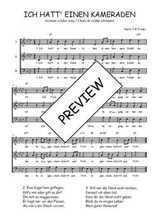 Téléchargez l'arrangement de la partition de Traditionnel-Ich-hatt--einen-Kameraden en PDF à trois voix