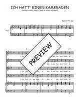 Téléchargez la partition de Ich hatt' einen Kameraden en PDF pour 4 voix SATB et piano