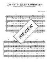 Téléchargez l'arrangement de la partition de Traditionnel-Ich-hatt--einen-Kameraden en PDF à quatre voix