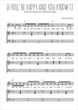 Téléchargez la partition de If you're happy and you know it en PDF pour Chant et piano