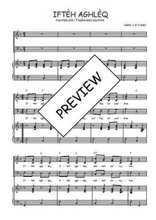 Téléchargez la partition de Iftèh aghlèq en PDF pour 3 voix SAB et piano