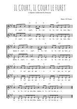 Téléchargez l'arrangement de la partition de Traditionnel-Il-court-il-court-le-furet en PDF à deux voix