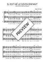 Téléchargez l'arrangement de la partition de noel-il-est-ne-le-divin-enfant en PDF à trois voix