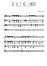 Téléchargez la partition de Il était une fermière en PDF pour 2 voix égales et piano
