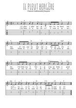 Téléchargez la tablature de la musique Traditionnel-Il-pleut-bergere en PDF