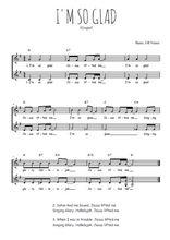 Téléchargez l'arrangement de la partition de Traditionnel-I-m-so-glad en PDF à deux voix