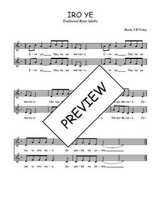 Téléchargez l'arrangement de la partition de Traditionnel-Iro-ye en PDF à deux voix