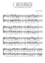 Téléchargez l'arrangement de la partition de Traditionnel-L-abidjanaise en PDF à deux voix