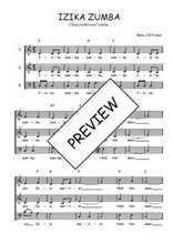 Téléchargez l'arrangement de la partition de Traditionnel-Izika-zumba en PDF à trois voix