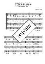 Téléchargez l'arrangement de la partition de Traditionnel-Izika-zumba en PDF à quatre voix
