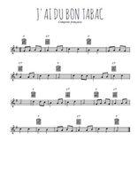 Téléchargez la partition en Sib de la musique comptine-j-ai-du-bon-tabac en PDF