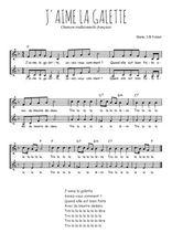 Téléchargez l'arrangement de la partition de Traditionnel-J-aime-la-galette en PDF à deux voix