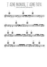 Téléchargez la partition en Sib de la musique j-aime-maman-j-aime-papa en PDF