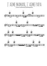 Téléchargez la partition pour saxophone en Mib de la musique j-aime-maman-j-aime-papa en PDF