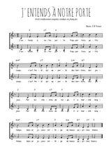 Téléchargez l'arrangement de la partition de Traditionnel-J-entends-a-notre-porte en PDF à deux voix