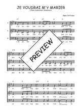 Téléchargez l'arrangement de la partition de Traditionnel-Je-voudrai-m-y-marier en PDF à trois voix
