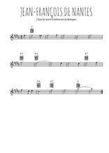 Téléchargez la partition pour saxophone en Mib de la musique bretagne-jean-francois-de-nantes en PDF