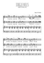 Téléchargez la partition de Jingle bells en PDF pour 2 voix égales et piano