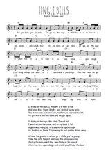 La partition gratuite de Jingle bells