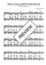 Téléchargez l'arrangement de la partition de Traditionnel-Jolly-old-Saint-Nicholas en PDF à deux voix
