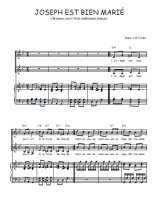 Téléchargez la partition de Joseph est bien marié en PDF pour 2 voix égales et piano