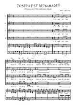 Téléchargez la partition de Joseph est bien marié en PDF pour 4 voix SATB et piano