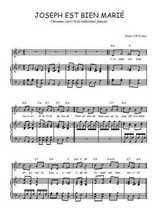Téléchargez la partition de Joseph est bien marié en PDF pour Chant et piano