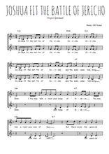 Téléchargez l'arrangement de la partition de spiritual-joshua-fit-the-battle-of-jericho en PDF à deux voix