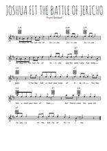 Téléchargez la partition pour saxophone en Mib de la musique spiritual-joshua-fit-the-battle-of-jericho en PDF