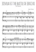 Téléchargez la partition de Joshua fit the battle of Jericho en PDF pour Chant et piano