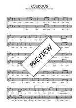 Téléchargez l'arrangement de la partition de Traditionnel-Koukoug en PDF à deux voix