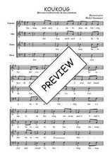 Téléchargez l'arrangement de la partition de Traditionnel-Koukoug en PDF à quatre voix