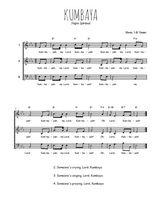 Téléchargez l'arrangement de la partition de spiritual-kumbaya en PDF à trois voix