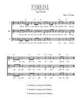 Téléchargez l'arrangement de la partition de spiritual-kumbaya en PDF pour trois voix d'hommes