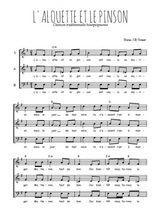 Téléchargez l'arrangement de la partition de Traditionnel-L-alouette-et-le-pinson en PDF à trois voix
