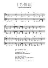 Téléchargez l'arrangement de la partition de Traditionnel-L-as-tu-vu en PDF à deux voix