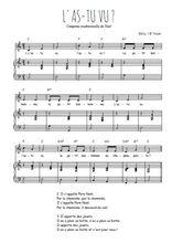 Téléchargez la partition de L'as-tu vu en PDF pour Chant et piano