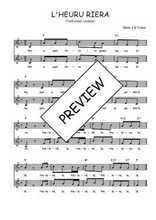 Téléchargez l'arrangement de la partition de Traditionnel-L-hereu-Riera en PDF à deux voix