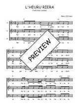 Téléchargez l'arrangement de la partition de Traditionnel-L-hereu-Riera en PDF à trois voix