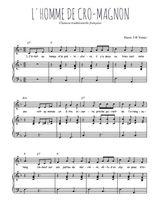 Téléchargez la partition de L'Homme de Cro-Magnon en PDF pour Chant et piano